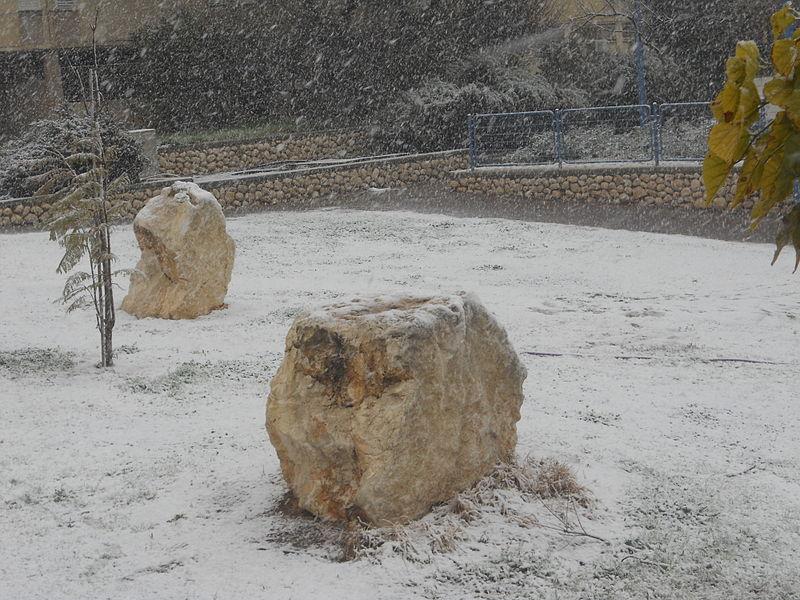 שלג בדימונה