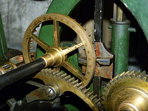 Escapement - Pin wheel escapement of South Mymms tower clock
