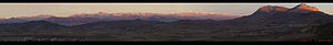 Panorama of the Central Pyrenees from Bailo, in Huesca province.