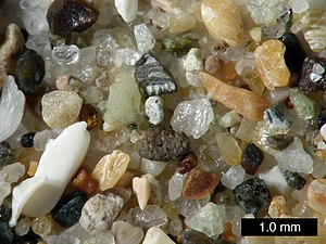 Sand from Pismo Beach, California.