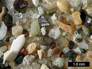 Sand from Pismo Beach, California.