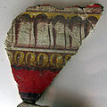 Pittura romana, decorazione con finte modanature, fine del II stile, 20 a.c. ca..JPG
