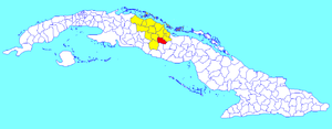 Placetas - Image: Placetas (Cuban municipal map)