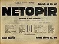 Plakat za predstavo Netopir v Narodnem gledališču v Mariboru 2. marca 1930.jpg