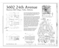 Plan and Elevations - 3602 Twenty-fourth Avenue (House), Valley, Chambers County, AL HAER AL-177 (sheet 1 of 1).png