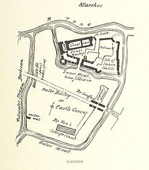 Taunton Castle - Image: Plan of Taunton Castle (1897)