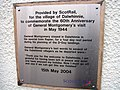 Plaque at Dalwhinnie Station - geograph.org.uk - 231801.jpg