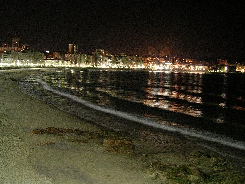 Playa de Orzán (La Coruña)