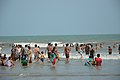 Playful People with Sea Waves - New Digha Beach - East Midnapore 2015-05-01 8684.JPG
