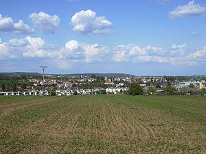 Drnovice (Vyškov District) - Image: Pohled na Drnovice