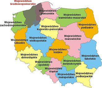 Middle Pomerania - Image: Poland woj Srodkowopomorskie plan