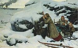 Albert Edelfelt: Poltettu kylä