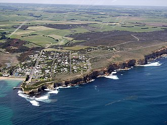 Port Campbell - Aerial photograph of Port Campbell