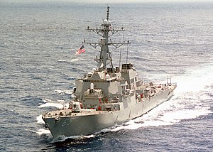Port bow view of USS Benfold (DDG-65) underway in South Pacific 010326-N-1644C-001.jpg