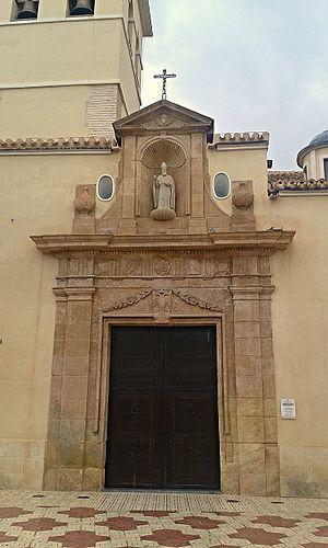Fuente Álamo de Murcia - Image: Portada de la iglesia de San Agustín