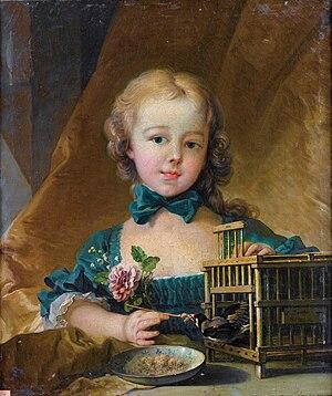 Alexandrine Le Normant d'Étiolles - Portrait of Alexandrine by François Boucher