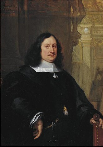 David Teniers the Younger - Portrait of David Teniers by Philip Fruytiers, 1655