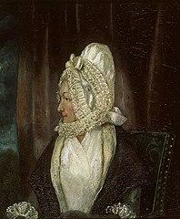 Portrait of a lady in white bonnet