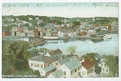 PostcardHarborNorwichCT1906