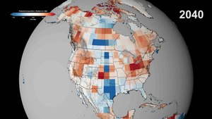 Fichier:Potential Evaporation in North America Through 2100.ogv