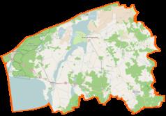 Mapa lokalizacyjna powiatu kamieńskiego