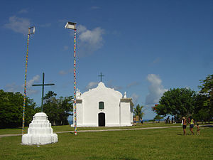 Trancoso, Bahia - The church in the Quadrado
