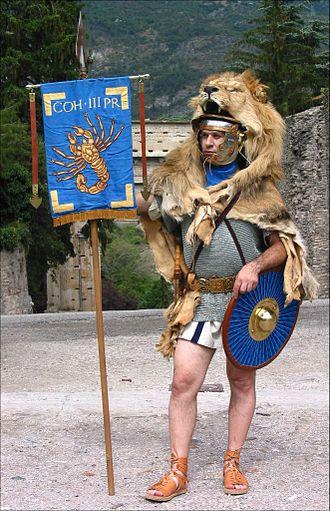 Parma (shield) - Image: Praetorian Vexillifer 1