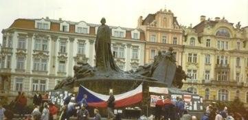 Prague November 1989 - Old Town Square Memorial