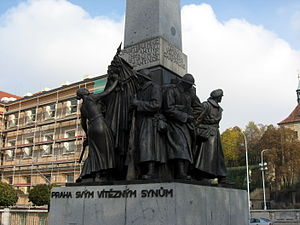 "Czechoslovak Legion - Monument ""Prague to Its Victorious Sons"" to the Czechoslovak Legions at Palacký Square"