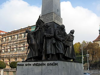"Czechoslovak Legion - ""Prague to Its Victorious Sons"", a monument  to the Czechoslovak Legions at Palacký Square"