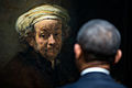 President Barack Obama looks at Rembrandt's Self-portrait as the Apostle Paul.jpg