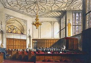 1992 Windsor Castle fire - An 1848 drawing of the Private Chapel by Joseph Nash