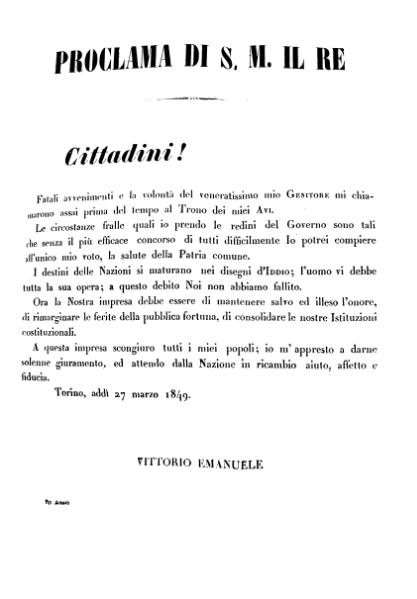 File:Proclama Torino 27 marzo 1849 Vittorio Emanuele II.djvu