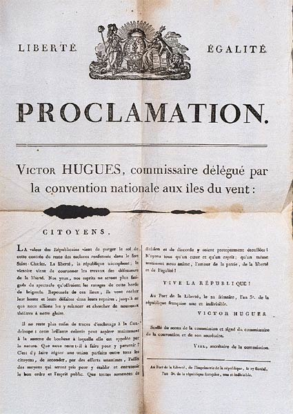 Proclamation esclavage