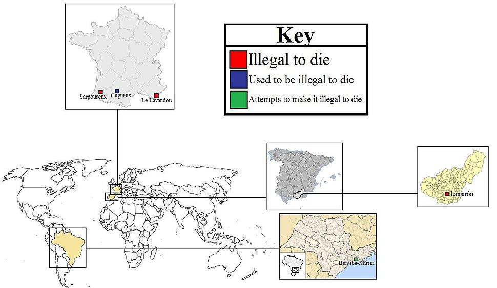 Prohibition of death around the world