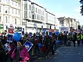 Protest marchers in Princes Street (geograph 2126350).jpg