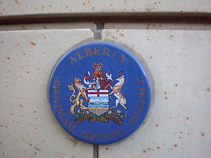 Heritage conservation in Canada - This plaque indicates that the building is protected by the Government of Alberta