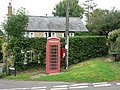 Puncknowle, postbox No. DT2 82 and phone box - geograph.org.uk - 935504.jpg