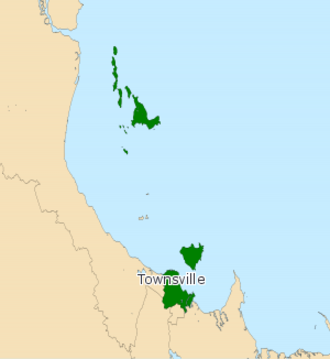 Electoral district of Townsville - Electoral map of Townsville 2008