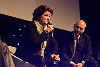 Kate Mulgrew - Mulgrew with Patrick Stewart appearing at Destination Star Trek London in 2012.