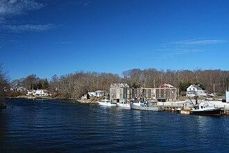 Quaket River - View of Quaket River from Nanaquaket Bridge, Tiverton, Rhode Island