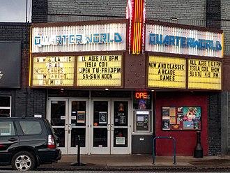 Alhambra Theatre (Portland, Oregon) - Quarterworld at Alhambra Theater Portland Oregon - quarter view