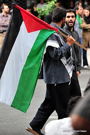 Flag of Palestine - Image: Quds Day Tehran Basijis