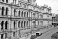 Queensland State Archives 3024 Air Raid Shelters outside the Treasury Building Brisbane c 1945.png
