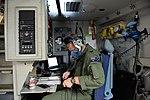 RAAF loadmaster with No. 36 Squadron RAAF, performs pre-flight checks on a C-17 Globemaster III's oxygen systems.jpg