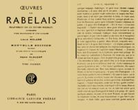 Œuvres de Rabelais collationnées sur les éditions originales accompagnées d'une bibliographie et d'un glossaire cover
