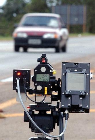 Radar gun - Microdigicam Laser in use in Brazil