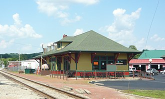 National Register of Historic Places listings in Indiana County, Pennsylvania - Image: Railroad Station Indiana Pa