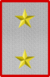 Rank insignia of tenente generale in comando di divisione of the Italian Army (1918).png