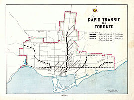 Toronto Subway Map With Streets.Relief Line Toronto Wikipedia